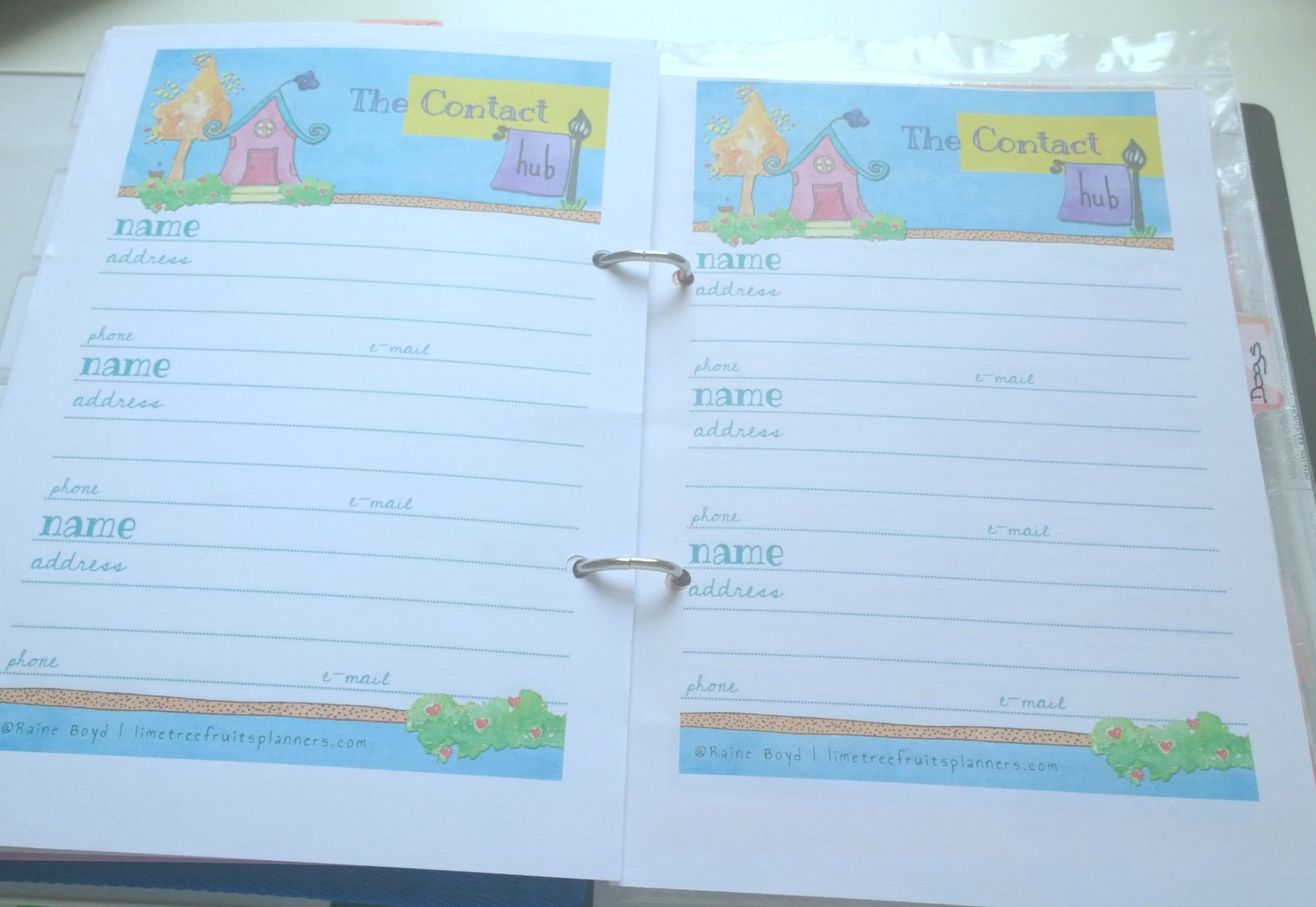 Family planner contact