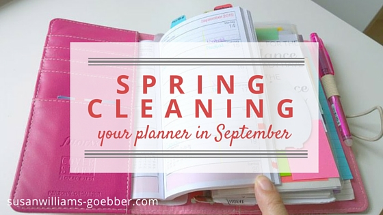 Spring Cleaning Your Filofax In September Planning Your