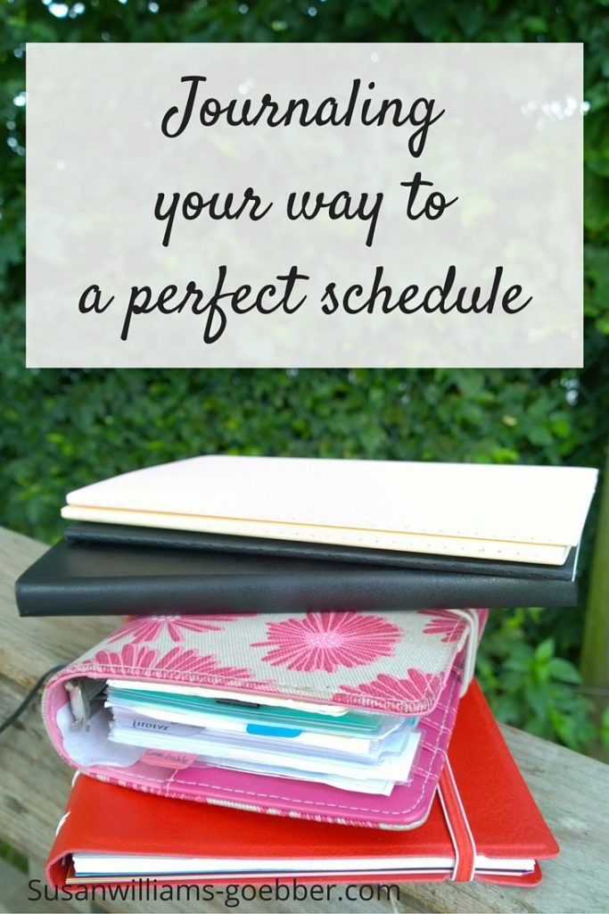 Journaling your way to a perfect schedule