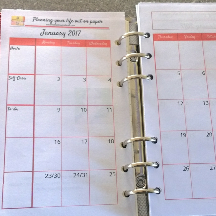 2017 Months on 2 pages , can be used as a forward planning for all bullet journals, or used in a traverler's notebook. Or in your Filofay
