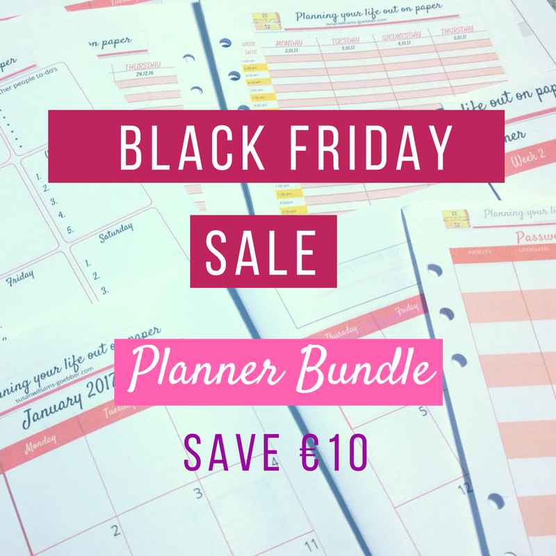 Black Friday sale of planner bundle